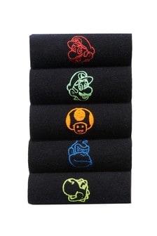 Mario Socks Five Pack