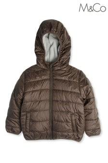 Зеленая детская дутая куртка M&Co