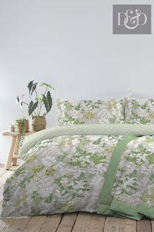 D&D Delamere Floral Duvet Cover and Pillowcase Set