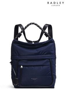 Radley London Blue Devon Street Large Hobo Backpack