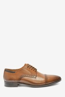 Leather Toe Cap Shoes