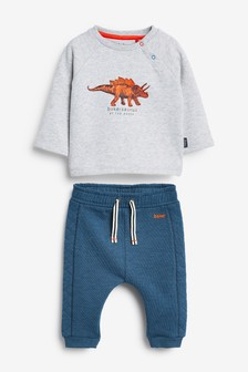 Baker by Ted Baker Grey Dino Graphic Set