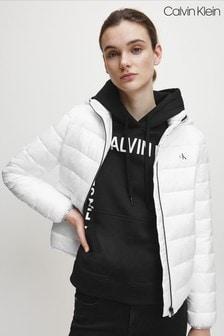 Calvin Klein White Lightweight Padded Padded Jacket