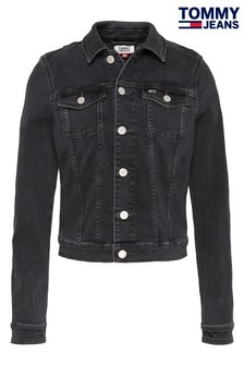 Tommy Jeans Black Vivianne Slim Denim Trucker Jacket