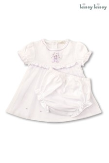 Kissy Kissy White Hand Embroidered Dress