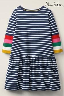 Boden Navy Stripy Jersey Dress