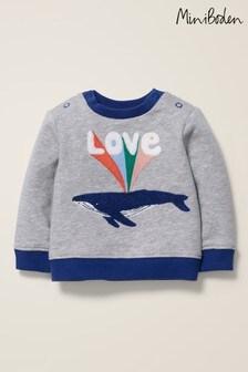 Boden Grey Cosy Slogan Sweatshirt