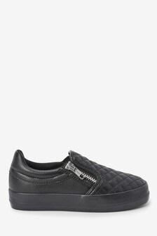 Стеганые туфли с молниями  (Подростки)
