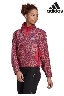 adidas Fast Primeblue Sweatshirt mit halbem Reißverschluss