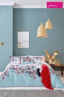 Joules - Set van katoenen Falmouth dekbedovertrek en kussensloop met bloemenprint