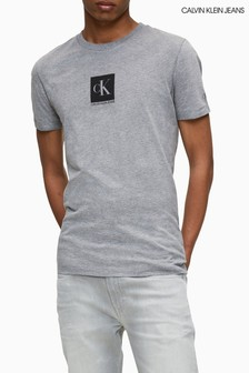 Calvin Klein Jeans Grey Centre Monogram Box T-Shirt