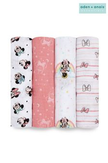 aden + anais® Essentials Muslin Swaddle Blankets 4 Pack