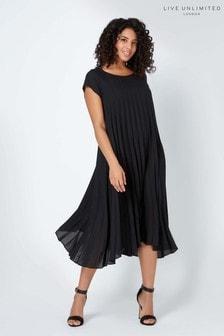 Live Unlimited Black Pleated Dress