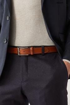 Signature Italian Leather Brogue Detail Belt