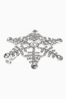 Sparkle Snowflake Brooch
