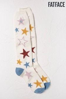 FatFace Natural Star Knee High Socks