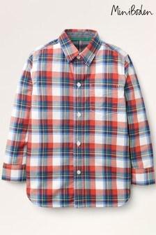 قميص تويل كاجوال أحمر من Mini Boden