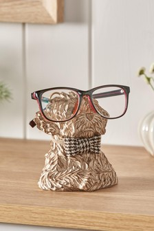 Brown Charlie the Cockapoo Dog Glasses Holder