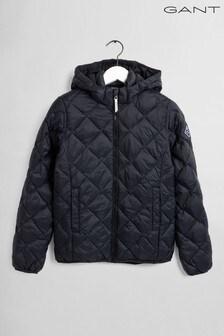 Черная легкая дутая куртка GANT