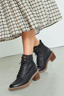 Signature Heeled Cleat Lace-Up Boots