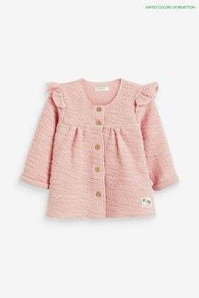 Benetton Jacke mit Rüschen, Pink