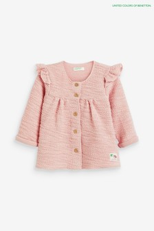 Benetton Pink Frill Jacket
