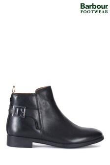 Barbour®黑色Patti扣飾靴