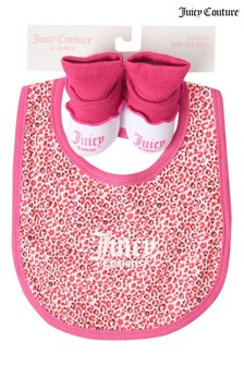 Juicy Couture Leopard Bib & Bootie Set