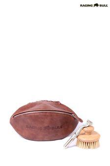 Raging Bull棕色皮革水洗包