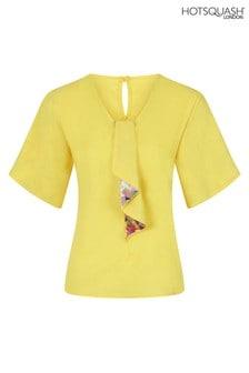 HotSquash Yellow River Tie Bat Sleeved Top