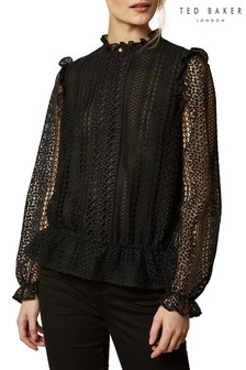 Ted Baker Comsee Zip-Up Lace Top