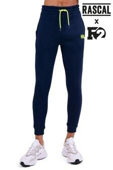 Pantalones de chándal con monograma en azul deRascal F2