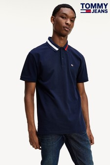 Tommy Jeans Blue Flag Collar Polo