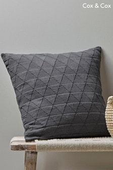 Cox & Cox Kissen aus weicher, gewaschener Baumwolle mit Geomuster