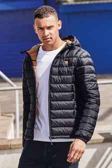 Shower Resistant Hooded Puffer Jacket With Dupont Sorona® Insulation (287371) | $69