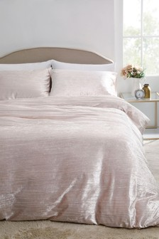 Sparkle Velvet Duvet Cover And Pillowcase Set