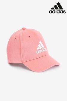 adidas粉色小童帽