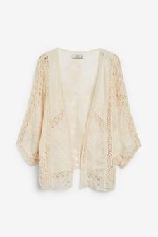 Crochet Floral Kimono