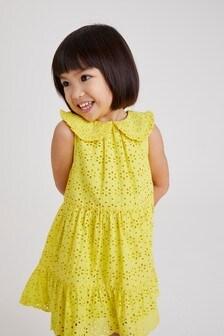 Broderie-jurk met kraag (3 mnd-7 jr)
