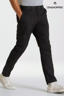 Craghoppers Black Kiwi Slim Trousers