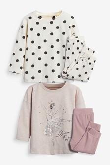 2 Pack Jogger Pyjamas (9mths-12yrs)