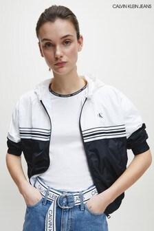 Černá pruhovanávětrovka Calvin Klein