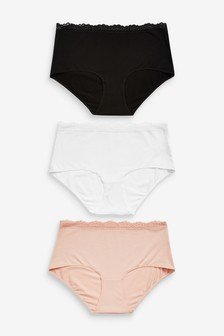 Bamboo And Cotton Knickers Three Pack
