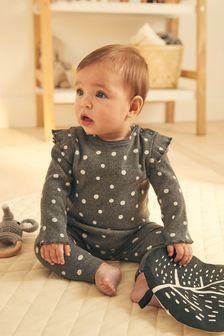 סט טייץ/חולצה פרחוני תואם (0 חודשים עד גיל 2)