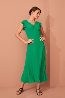 Occasion Frill Sleeve Maxi Dress