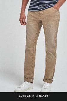 Farbené batikované strečové džínsy