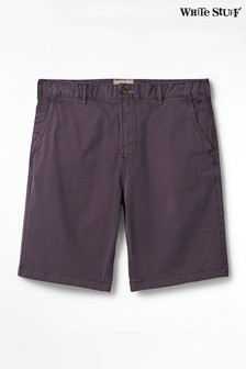 White Stuff Purple Portland Organic Chino Shorts