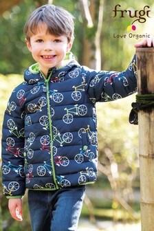 Frugi Recycled Pack Away Jacket In Bike Print