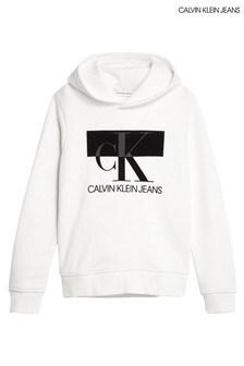 هودي وحدات بالحروف الأولى أبيض من Calvin Klein