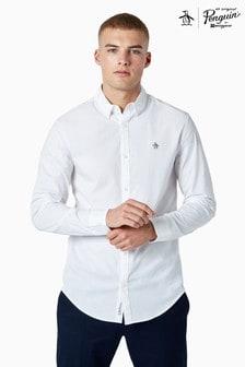 Original Penguin® White Long Sleeved Poplin Shirt